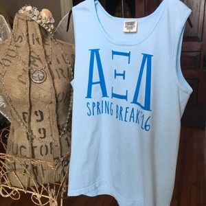 Sorority Comfort Colors tank. Small. EUC